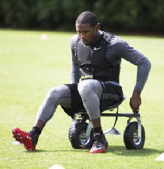 Patrick Peterson Sit Down Squat Drill
