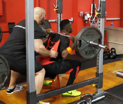 Antonio Brown Workout Box Squat