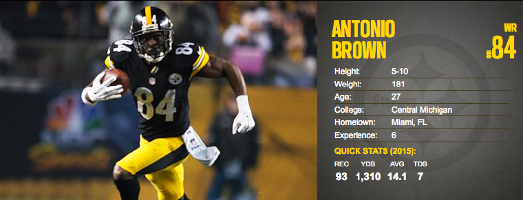 Antonio Brown Pittsburgh Steelers Wide Receiver