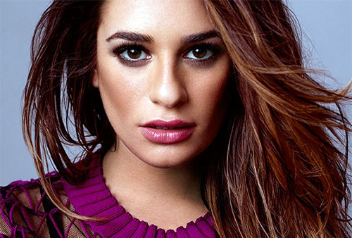 Lea Michele beauty hair
