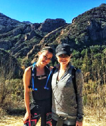 Lea Michelle hiking with Becca Tobin Malibu