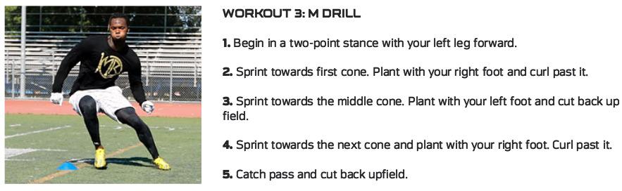 Martavis Bryant M Drill Exercise