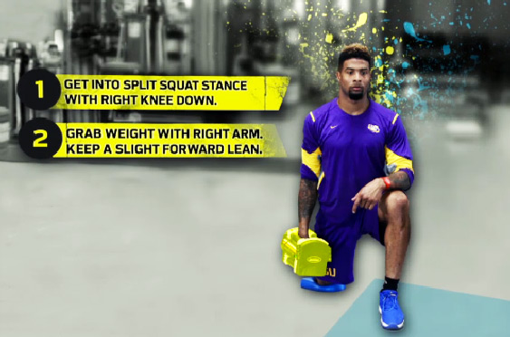Odell Beckham Workout Leg Speed Squat