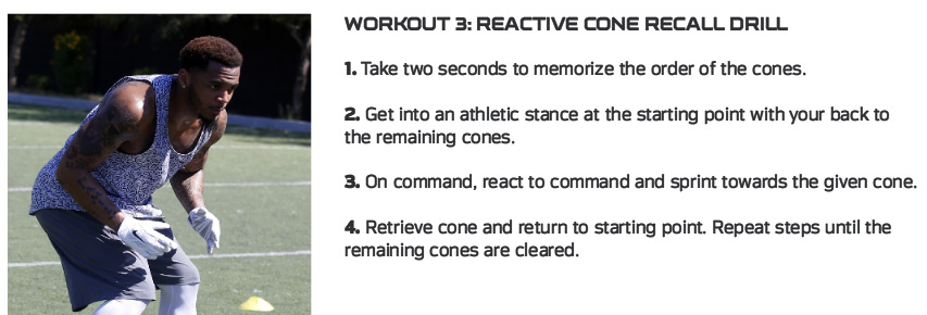 Patrick Chung Workout Reactive Cone Recall Drill Techniques