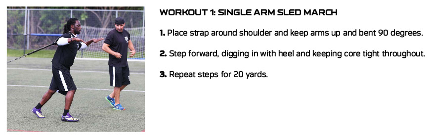 Single Arm Sled March Lardarius Webb