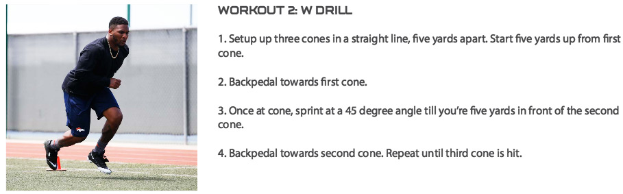 TJ Ward W Drills Exercise Instructions