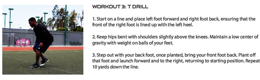 TJ Ward Workout T Drills