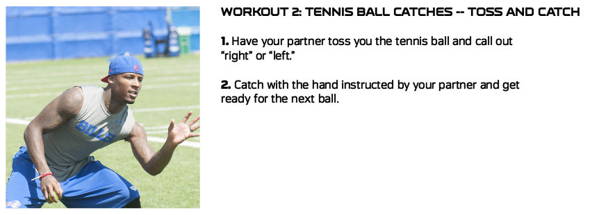 Tennis Ball - Toss & Catch Exercise