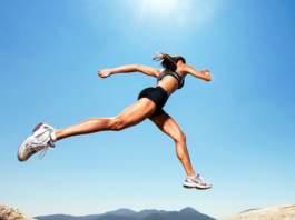 best workout Woman jumping