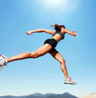 best workout Woman jumping