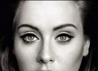 Adele Face Close-Up WIth Makeup