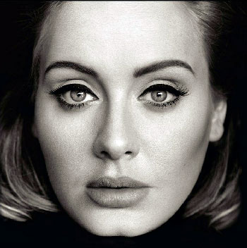 Adele Face Close-Up WIth Makeup