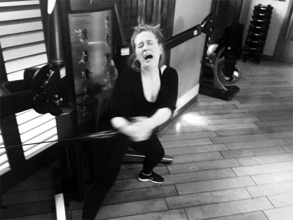 Adele Fitness Woes At The Gym. She's in need of some workout motivation.
