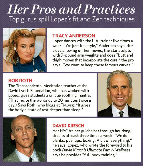 JLo workout trainers tracy anderson, bob roth, and david kirsch