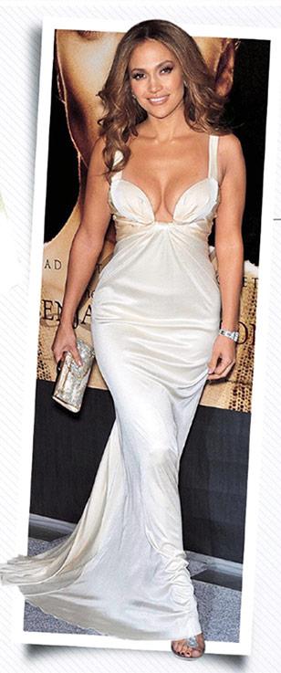 Jennifer Lopez Body Wearing White Gown Dress