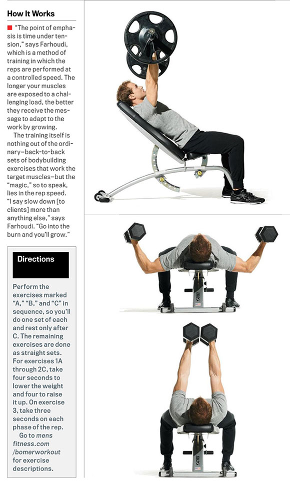 Matt Bomer Workout Routine for Upper Body - Chest, Arms, Shoulders