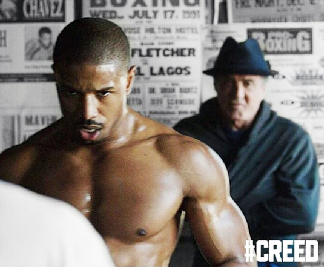 Michael B Jordan Creed Showing Off Massive Chest Shoulders Biceps
