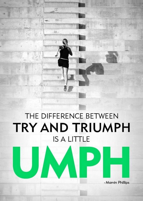 umph workout motivation try and triumph