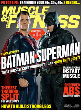 Batman v Superman Muscle & Fitness March 2016