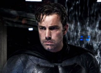 Ben Affleck Batman wearing Batsuit no mask