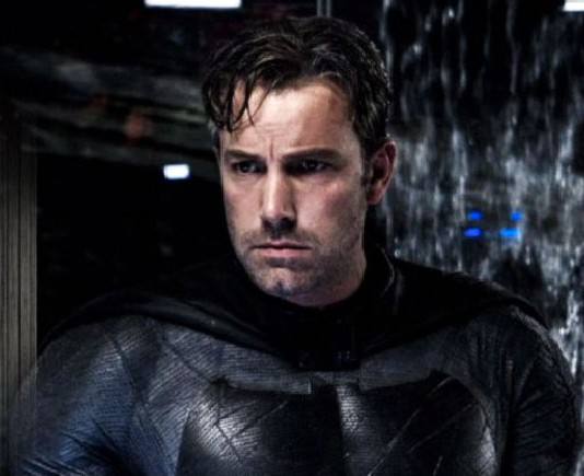 Ben Affleck Batman wearing Batsuit no mask