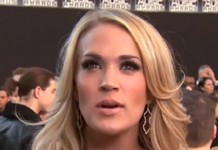 Carrie Underwood being interviewed