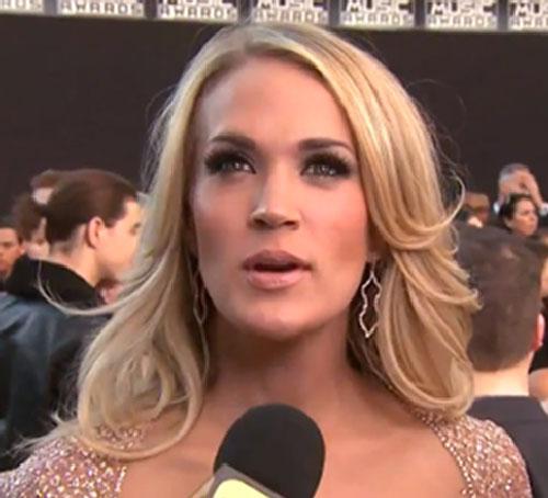 Carrie Underwood being interviewed