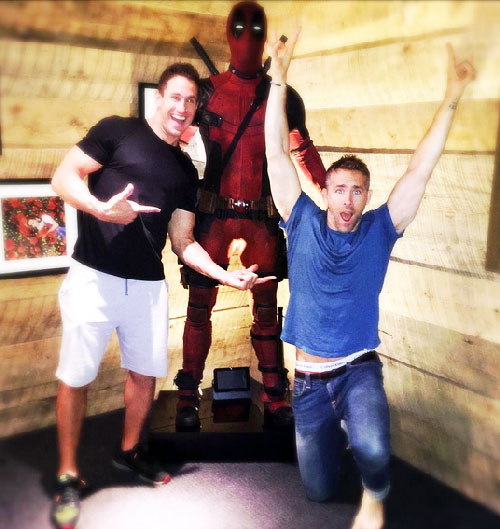 Ryan Reynolds with his Deadpool trainer Don Saladino