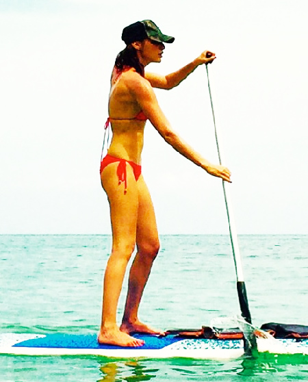 Gal Gadot Paddleboarding Workout