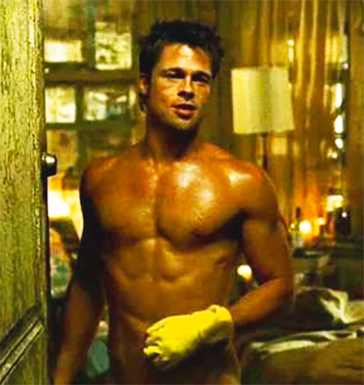 Brad Pitt Fight Club Body