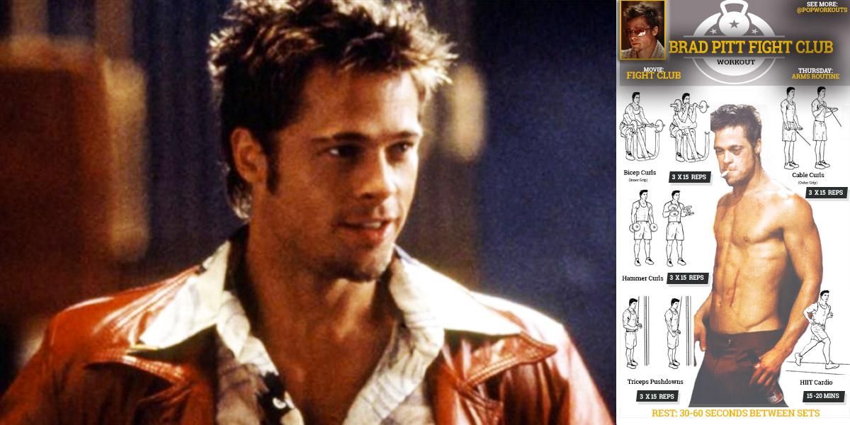 Brad Pitt Workout Chart Cover
