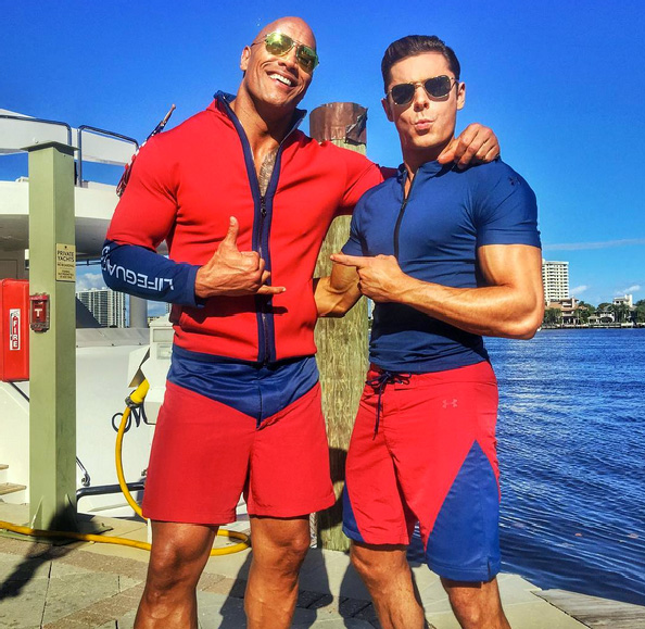 The Rock Baywatch Looks Leaner With Zac Efron