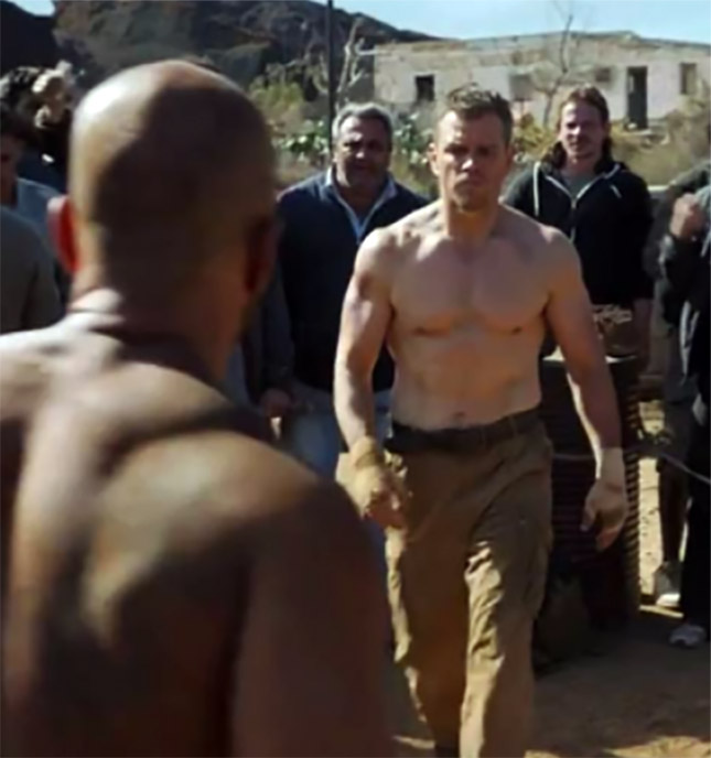 Jason Bourne Workout Shirtless Matt Damon Fight Scene