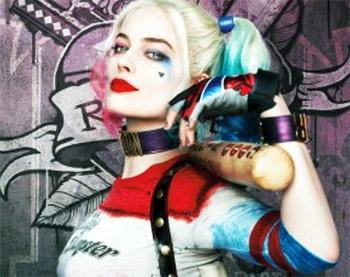 Margot Robbie Harley Quinn Face Focus Picture