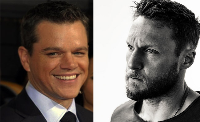 Matt Damon with his personal trainer Jason Walsh