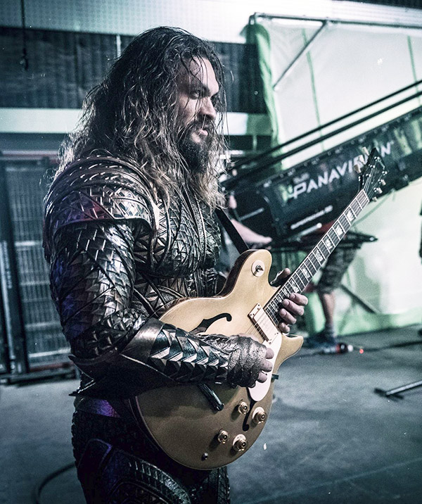 Aquaman Jason Momoa Arms Guitar