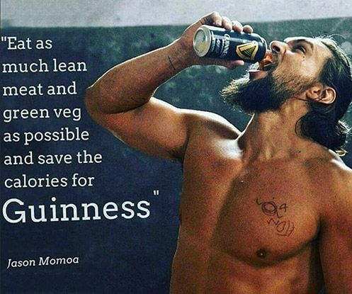 Jason Momoa Diet Quote For Aquaman Guinness
